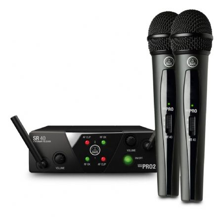 AKG WMS40 Mini Dual Wireless Vocal Microphone System